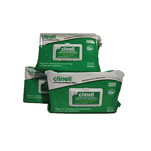 Clinell Universal Wipes.  Soft pack of 200