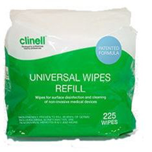 Clinell Universal Wipes - refill pack for bucket 225