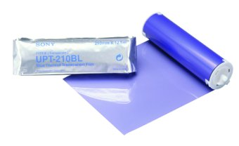 Sony UPT-210BL Blue thermal transparent film.