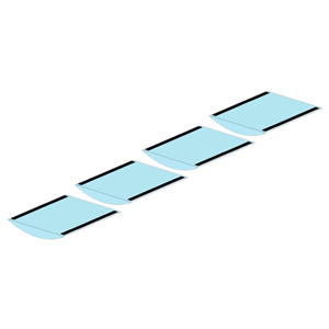 Coated Segment Table Pads - Set of 4